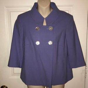 W by Worth New York Purple Blazer Suit Jacket